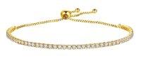 Bracelet gold with zircons