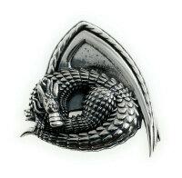 Pendant dragon Oxidized