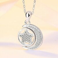 Pendant moon and star with changeable side