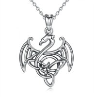 Pendant dragon with triskele