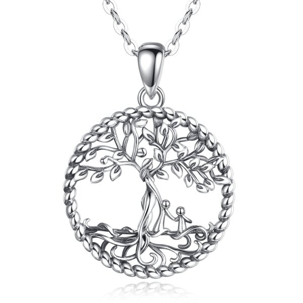 Pendant tree of life / mother nature with two children