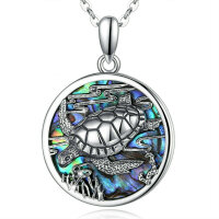 Pendant turtle with abalone
