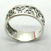 Keltischer Knoten 925 Sterling Silber Ring Rocker Biker Dark Trinquetta Medival