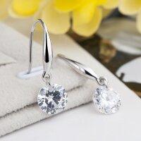 Earrings with zirconia