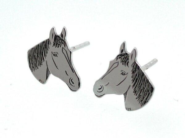 Kleine Ohrstecker Pferde 925 Silber ? Ohrringe Pferdekopf liebe Frauen Haflinger