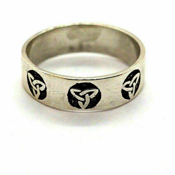Knoten Ring 925 Sterling Silber Rocker Biker Dark Rock Gothic Triskele ?