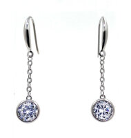 Earrings classic beautiful with cubic zirconia