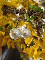Perlen Ohrringe 925 Silber 10mm Creme Weiß Hochwertige Pantercats Faux Perlen ?