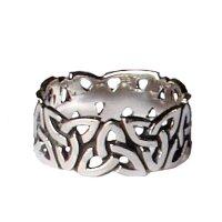 Trinquetta Ring 925 Sterling Silber Viking Wikinger...