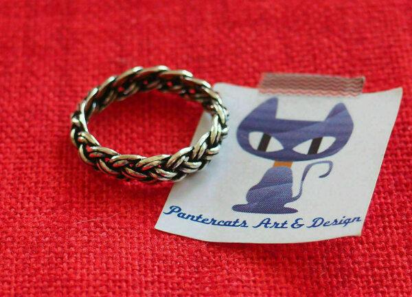 Verlobung Keltischer Knoten Ring 925 Sterlingsilber Silber Zopf Ringe Kelte
