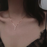 Zarte Halskette 925 Silber  Zirkonia  Minimalistisch  Modern Zeitlos Elegant